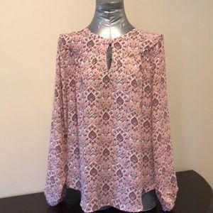 NWT LOFT long sleeve blouse